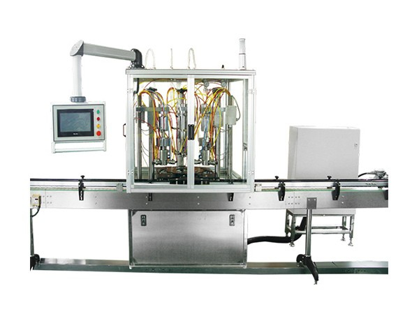 QGQGDY-3型三头电控全自动氧气盖下灌装机