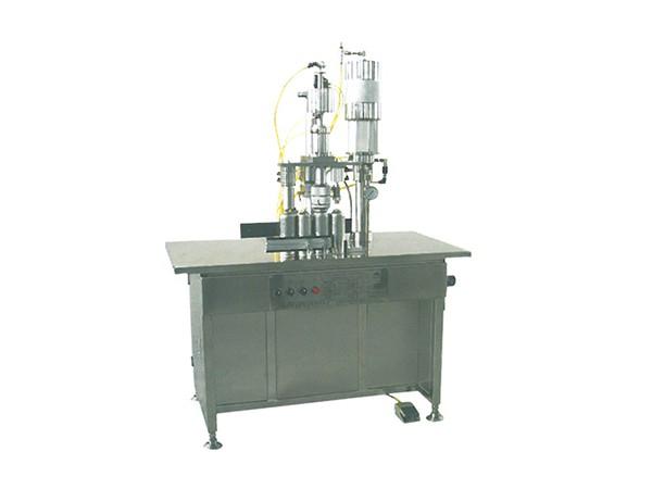 QGBS-500型三合一半自动气雾剂灌装机